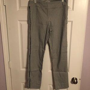 Black/White Print Dress Pants
